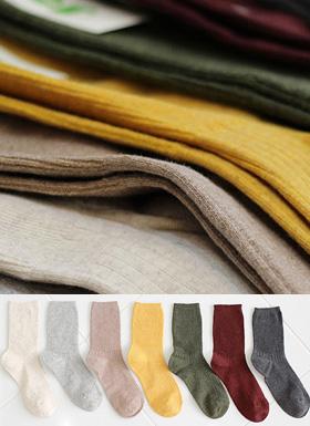 瓦楞彩袜(7color)